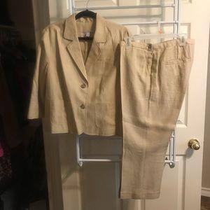 Old Navy linen suit
